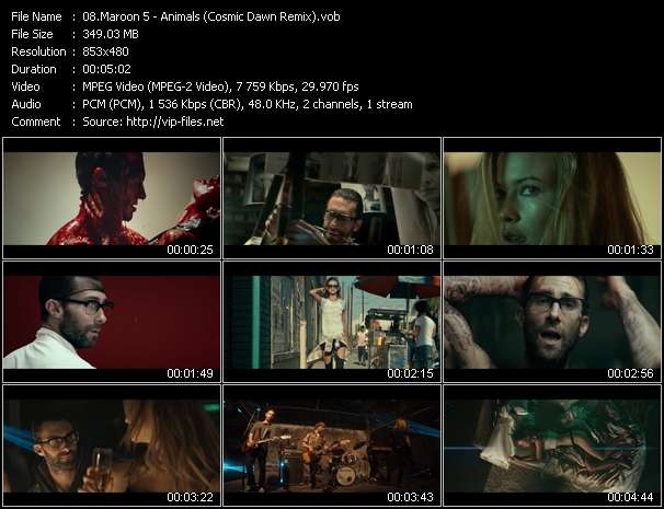 Maroon 5 HQ Videoclip «Animals (Cosmic Dawn Remix)»