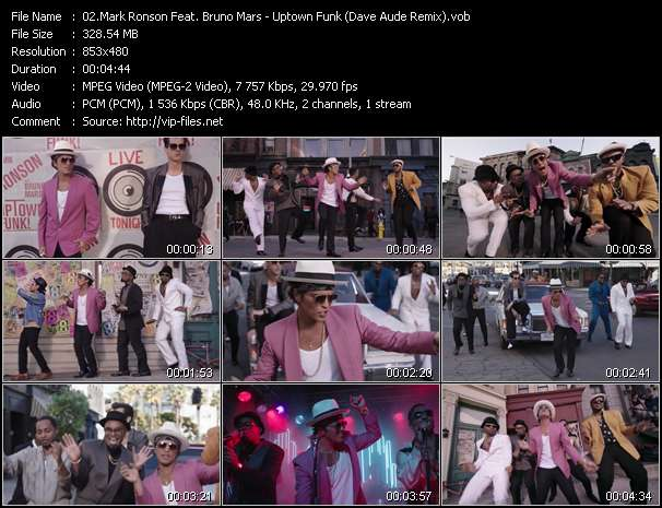 Mark Ronson Feat. Bruno Mars video - Uptown Funk (Dave Aude Remix)