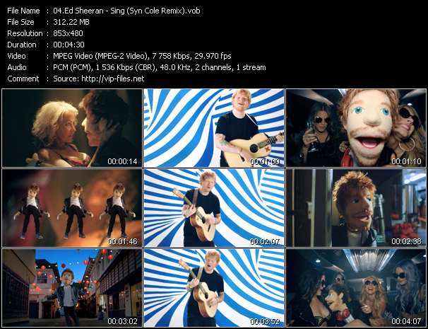 Ed Sheeran HQ Videoclip «Sing (Syn Cole Remix)»