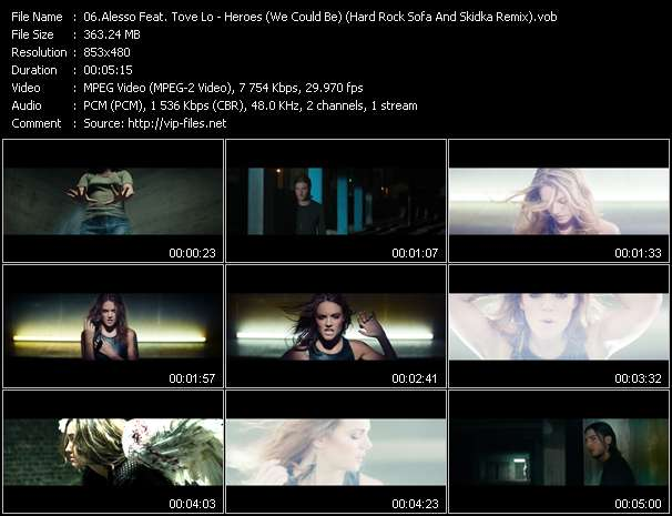 Alesso Feat. Tove Lo HQ Videoclip «Heroes (We Could Be) (Hard Rock Sofa And Skidka Remix)»