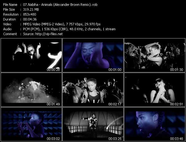 Nabiha video - Animals (Alexander Brown Remix)
