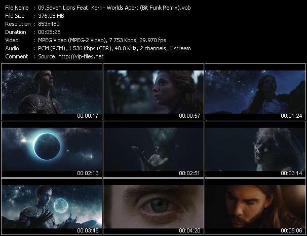 Seven Lions Feat. Kerli video - Worlds Apart (Bit Funk Remix)