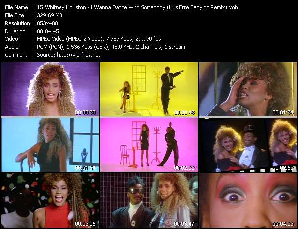 Whitney Houston video - I Wanna Dance With Somebody (Luis Erre Babylon Remix)