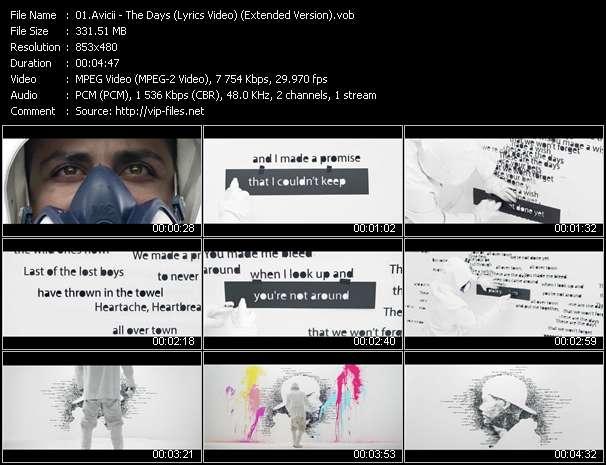 Avicii video - The Days (Lyrics Video) (Extended Version)