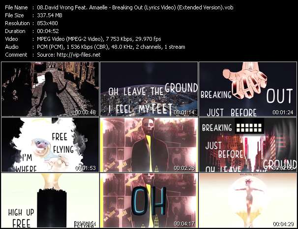 David Vrong Feat. Amaelle video - Breaking Out (Lyrics Video) (Extended Version)