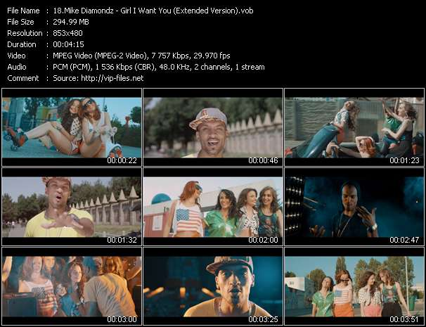 Mike Diamondz HQ Videoclip «Girl I Want You (Extended Version)»