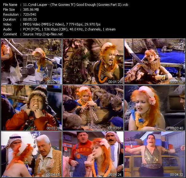 Cyndi Lauper HQ Videoclip «(The Goonies 'R') Good Enough (Goonies Part II)»