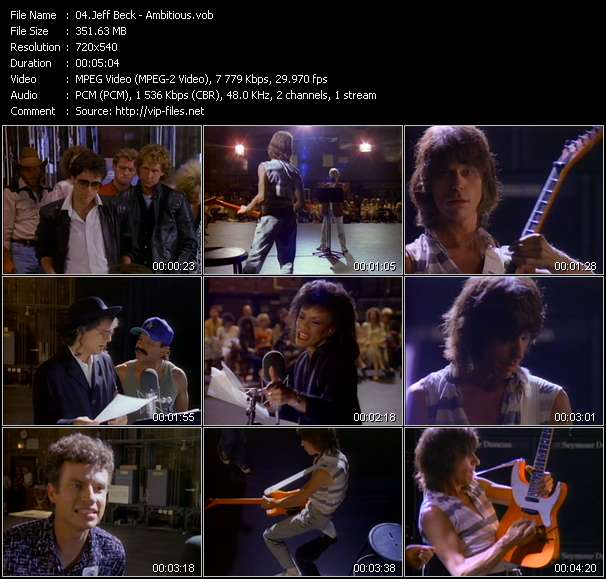 Jeff Beck HQ Videoclip «Ambitious»