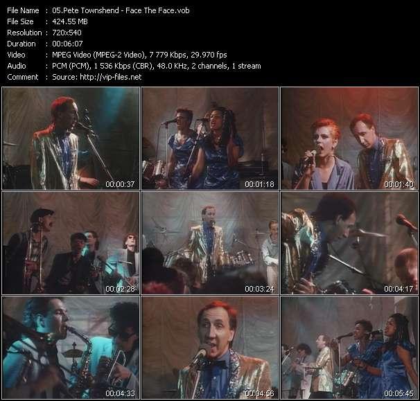 Pete Townshend HQ Videoclip «Face The Face»