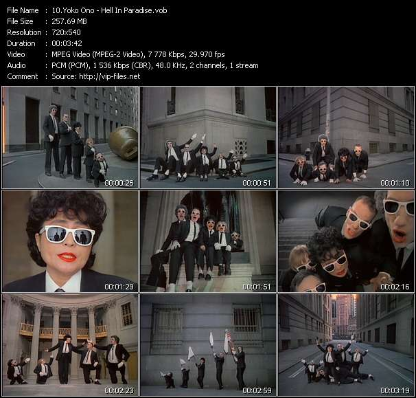 Yoko Ono HQ Videoclip «Hell In Paradise»