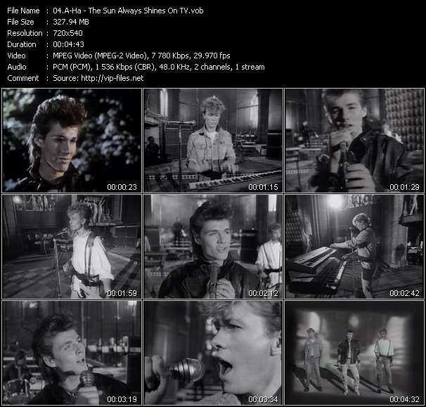 A-Ha video - The Sun Always Shines On TV