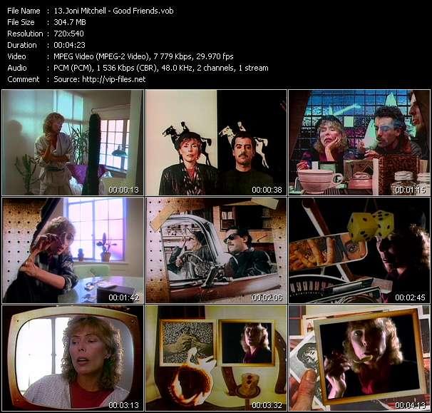 Joni Mitchell HQ Videoclip «Good Friends»