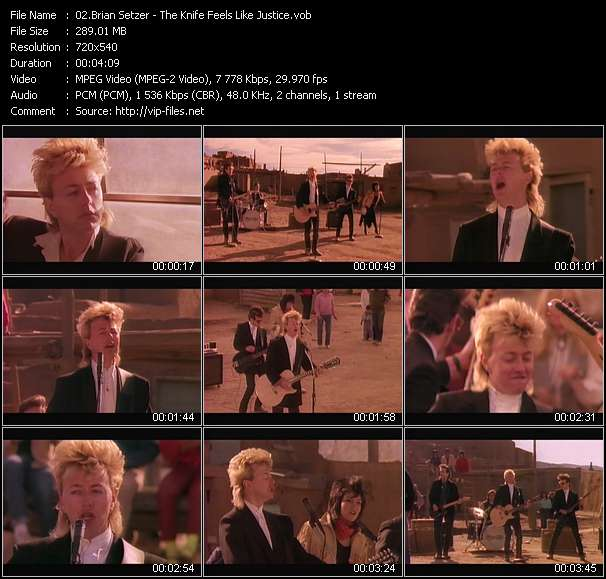 Brian Setzer video - The Knife Feels Like Justice