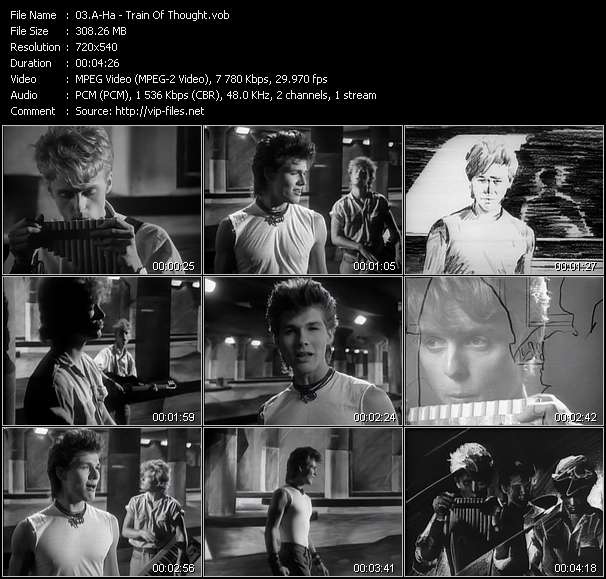 A-Ha video - Train Of Thought