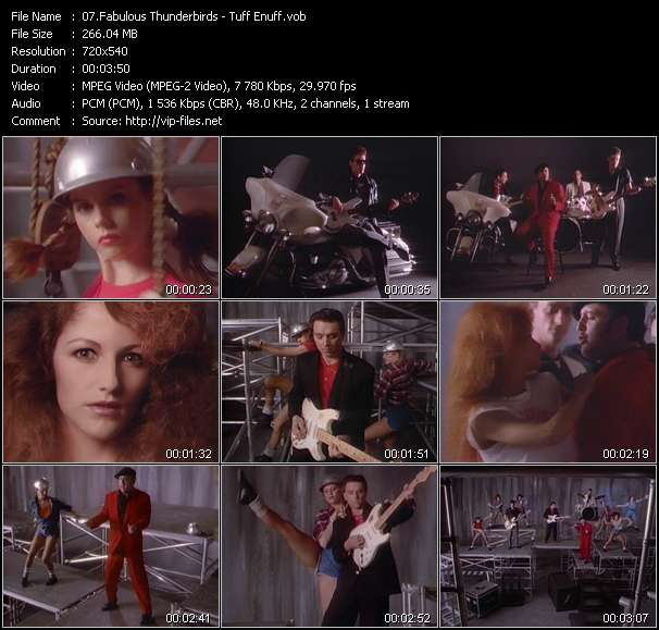 Fabulous Thunderbirds video - Tuff Enuff
