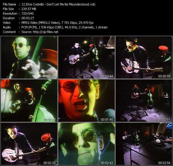 Elvis Costello HQ Videoclip «Don't Let Me Be Misunderstood»
