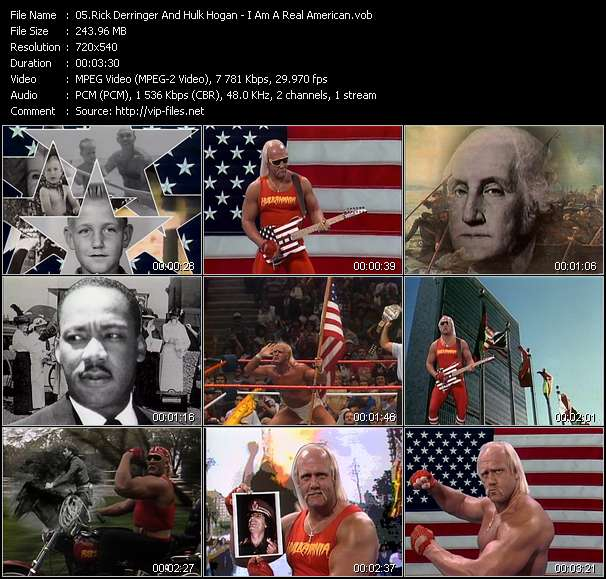 Rick Derringer And Hulk Hogan HQ Videoclip «I Am A Real American»