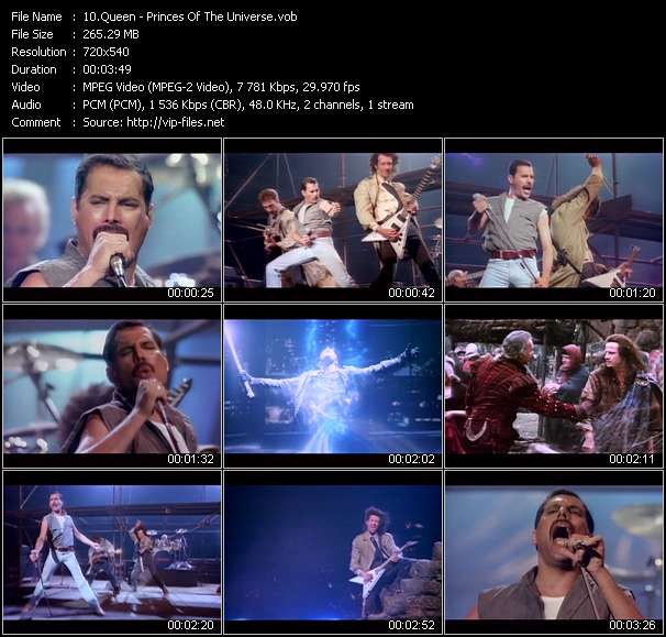 Queen HQ Videoclip «Princes Of The Universe»