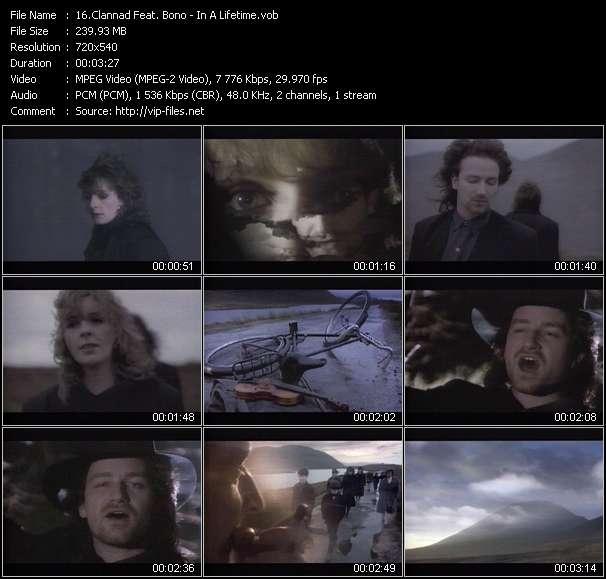 Clannad Feat. Bono HQ Videoclip «In A Lifetime»