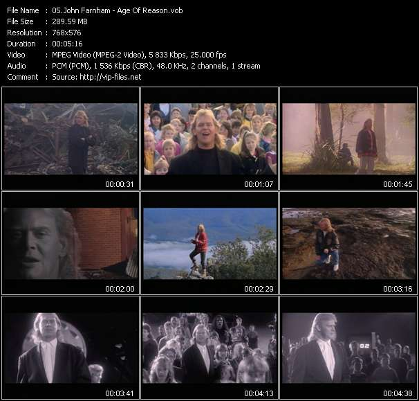 John Farnham HQ Videoclip «Age Of Reason»