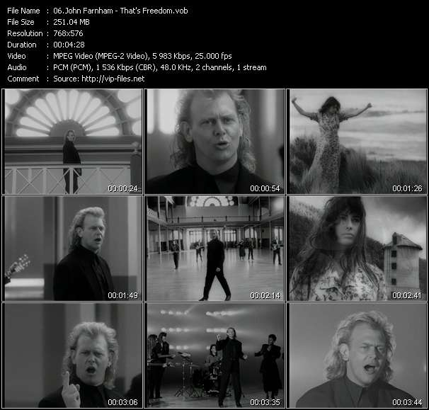 John Farnham HQ Videoclip «That's Freedom»