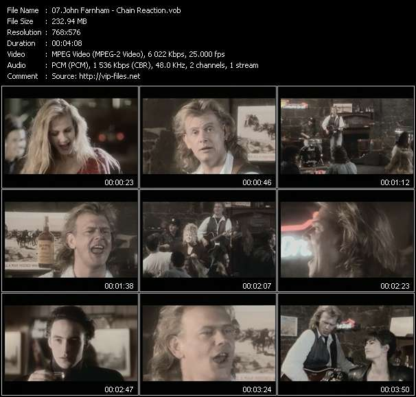 John Farnham HQ Videoclip «Chain Reaction»