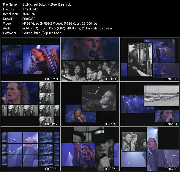 Michael Bolton HQ Videoclip «Steel Bars»