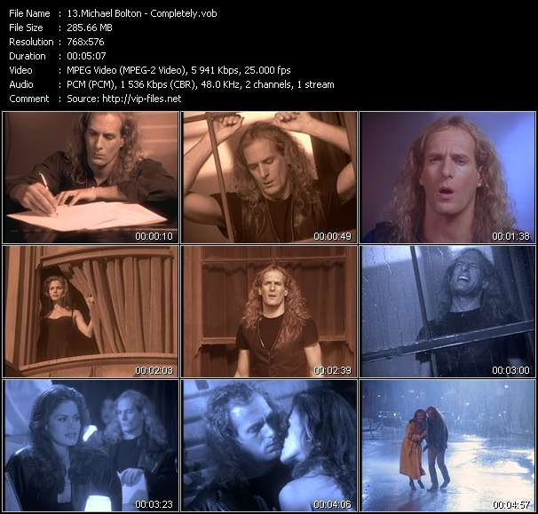 Michael Bolton HQ Videoclip «Completely»