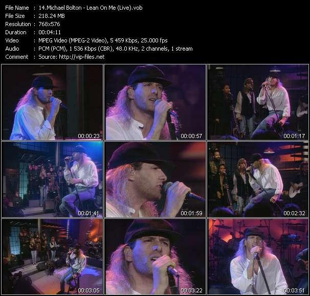 Michael Bolton HQ Videoclip «Lean On Me (Live)»