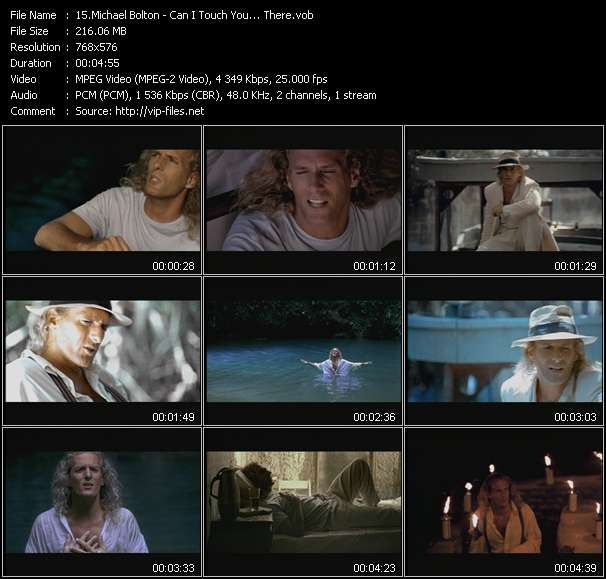 Michael Bolton HQ Videoclip «Can I Touch You... There?»