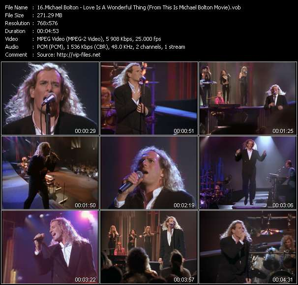 """Michael Bolton HQ Videoclip «Love Is A Wonderful Thing (From """"This Is Michael Bolton"""" Movie)»"""