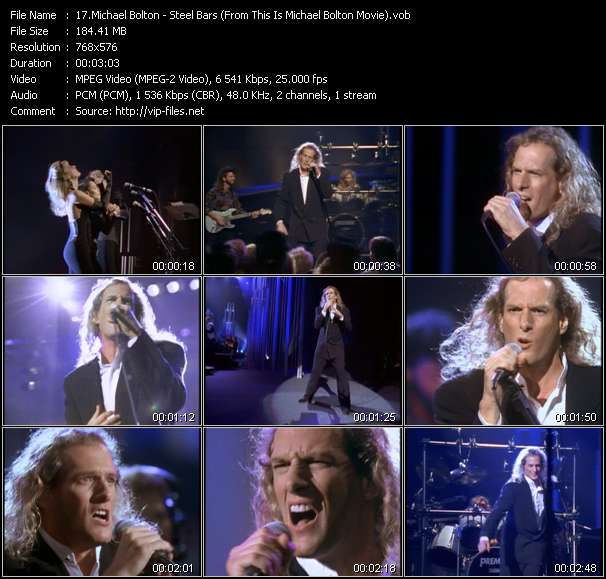 """Michael Bolton HQ Videoclip «Steel Bars (From """"This Is Michael Bolton"""" Movie)»"""
