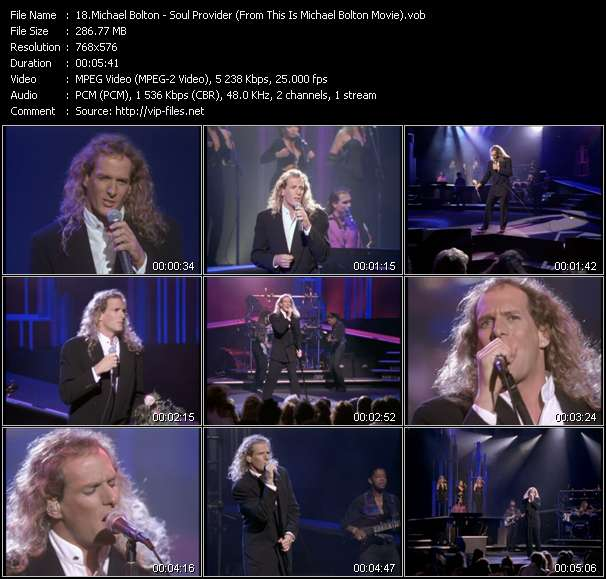 """Michael Bolton HQ Videoclip «Soul Provider (From """"This Is Michael Bolton"""" Movie)»"""