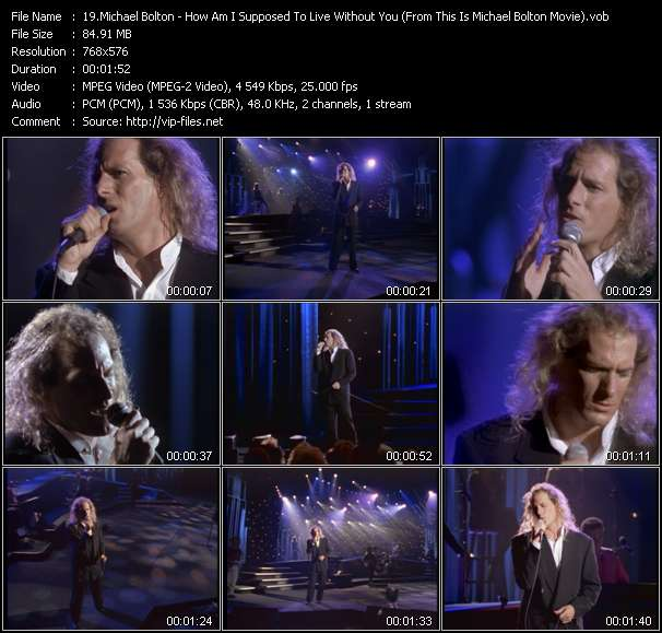 """Michael Bolton HQ Videoclip «How Am I Supposed To Live Without You (From """"This Is Michael Bolton"""" Movie)»"""