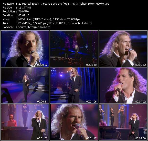 """Michael Bolton HQ Videoclip «I Found Someone (From """"This Is Michael Bolton"""" Movie)»"""