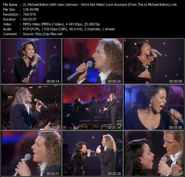 """Michael Bolton With Vann Johnson HQ Videoclip «We're Not Makin' Love Anymore (From """"This Is Michael Bolton"""" Movie)»"""