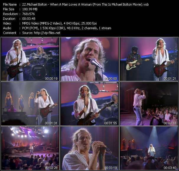 """Michael Bolton HQ Videoclip «When A Man Loves A Woman (From """"This Is Michael Bolton"""" Movie)»"""