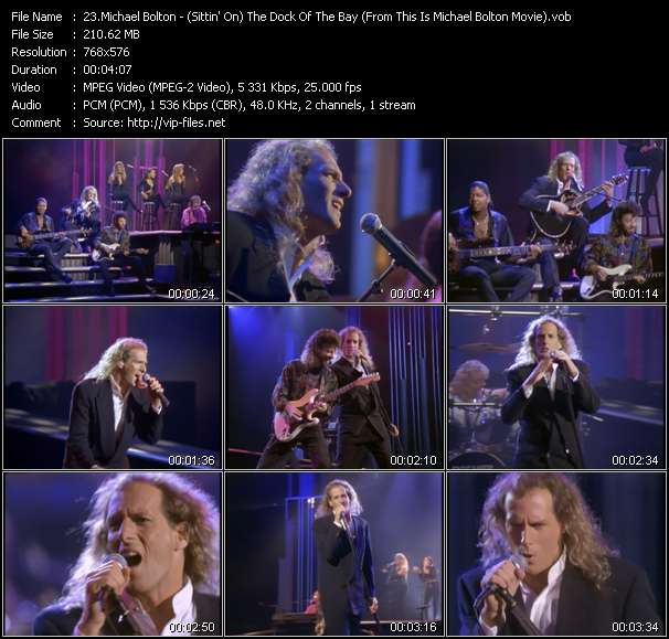 """Michael Bolton HQ Videoclip «(Sittin' On) The Dock Of The Bay (From """"This Is Michael Bolton"""" Movie)»"""