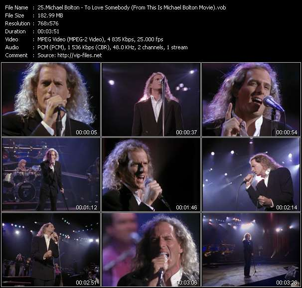 """Michael Bolton HQ Videoclip «To Love Somebody (From """"This Is Michael Bolton"""" Movie)»"""
