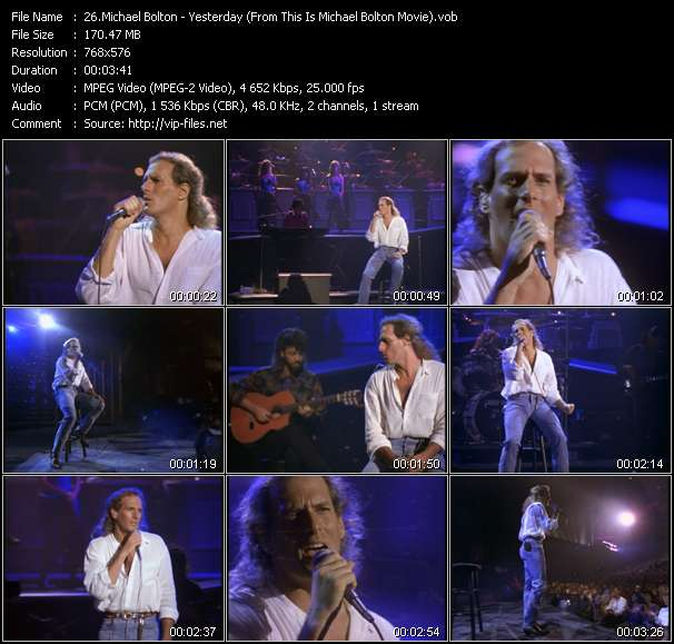 """Michael Bolton HQ Videoclip «Yesterday (From """"This Is Michael Bolton"""" Movie)»"""