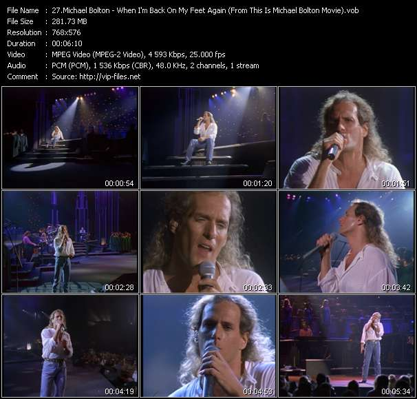 """Michael Bolton HQ Videoclip «When I'm Back On My Feet Again (From """"This Is Michael Bolton"""" Movie)»"""