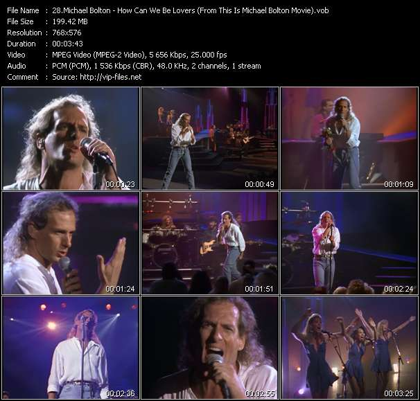 """Michael Bolton HQ Videoclip «How Can We Be Lovers (From """"This Is Michael Bolton"""" Movie)»"""