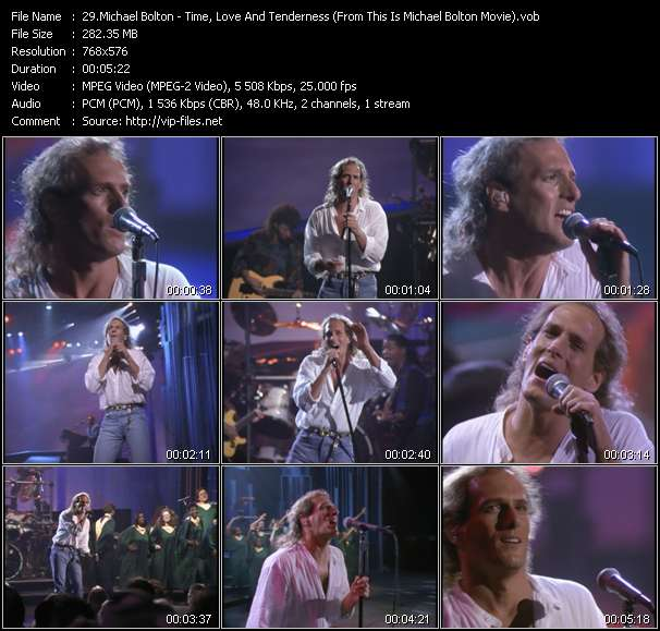 """Michael Bolton HQ Videoclip «Time, Love And Tenderness (From """"This Is Michael Bolton"""" Movie)»"""