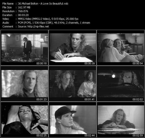 Michael Bolton HQ Videoclip «A Love So Beautiful»