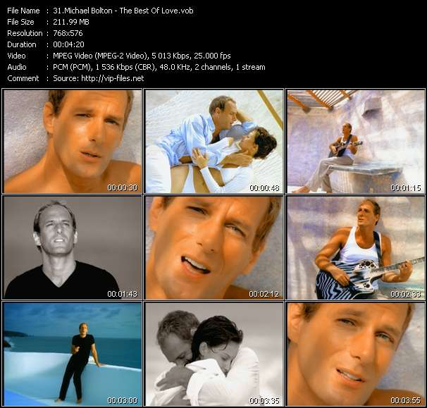 Michael Bolton HQ Videoclip «The Best Of Love»