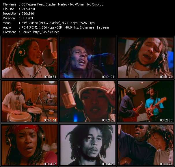 Fugees Feat. Stephen Marley video - No Woman, No Cry