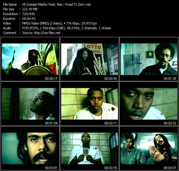 Damian Marley Feat. Nas video - Road To Zion