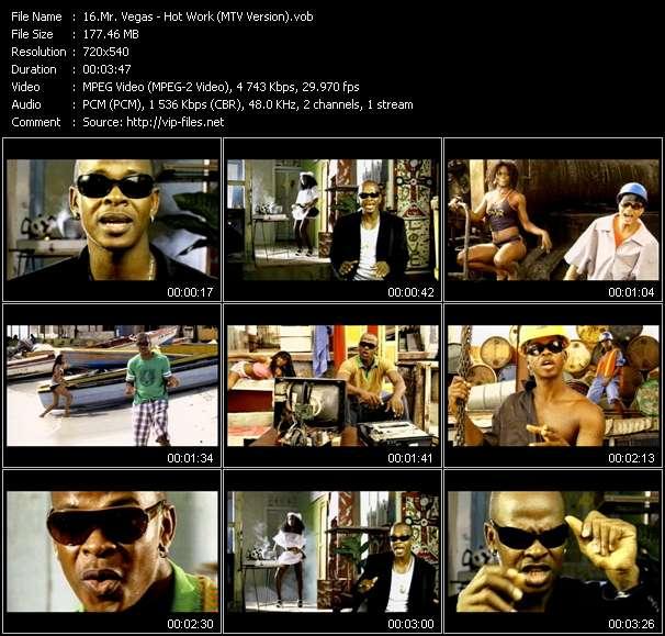 Mr. Vegas video - Hot Work (MTV Version)