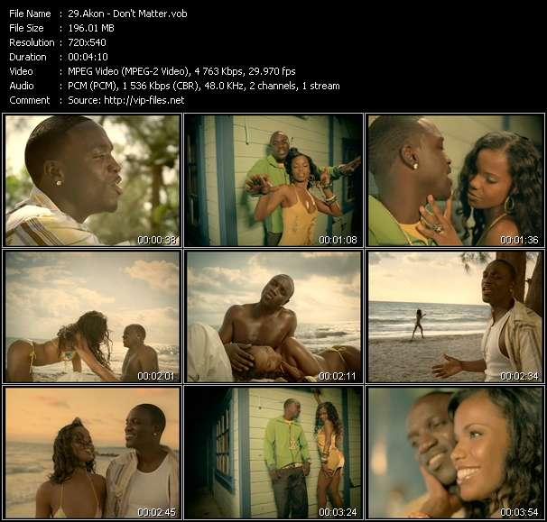 Akon video - Don't Matter