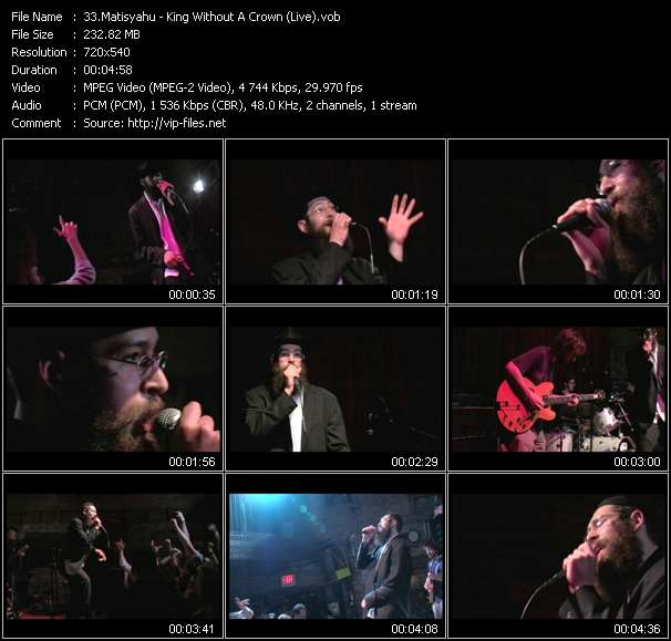 Matisyahu video - King Without A Crown (Live)